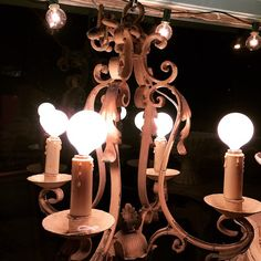 """""""Shabby Chic Metal Chandelier #follow #antiques #theuglyducklingantiques"""""""