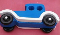 Handmade Wooden Toy Car - Old Fashion Style Touring Auto - Wooden Car - Wood Toy - Imagination Toy Push Pull - Classic Touring Car - Blue Wooden Toy Garage, Wooden Toy Cars, Wooden Truck, Wood Toys, Toddler Toys, Baby Toys, Kids Toys, Children's Toys, Contemporary Toys