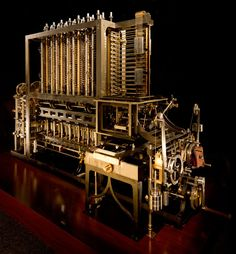In British inventor Charles Babbage completed designs for a difference engine, a very early mechanical computer. Due to cost and complexity the Steampunk, Nautilus, British Inventors, Mechanical Computer, Alter Computer, Mechanical Calculator, Ada Lovelace, First Iphone, Instruments
