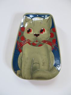 Vintage 1950s George W. Horner Cat Toffee Tin by CreekBedJewelry