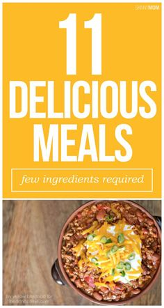 11 tasty low calorie meals with only 3 INGREDIENTS!  Check it out!
