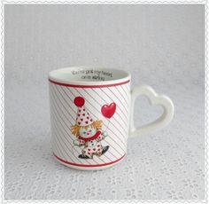 Valentine's Day Mug Vintage Clown Mug by RaindropVintageShop