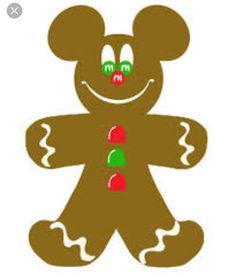 Example of Mickey Mouse gingerbread man from Internet