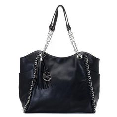 Michael Kors Chelsea Two-Tone Large Black Totes.More than 60% Off, I enjoy these bags.It's pretty cool (: Check it out! | See more about michael kors outlet, michael kors and outlets.