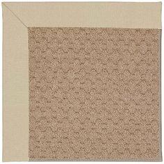 Capel Zoe Machine Tufted Ecru/Brown Area Rug Rug Size: Square 10'