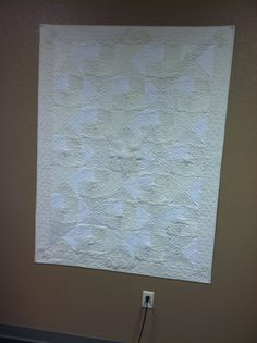 Quilt made from wedding dress