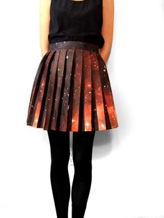 Hubble Deep Field Pleated Galaxy Skirt by shadowplaynyc on Etsy, $198.00