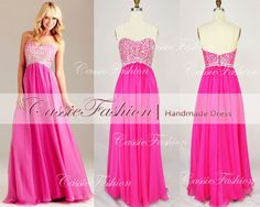 Sweetheart Beads Crystal Chiffon Blue/Pink  Prom by CassieFashion, $159.00