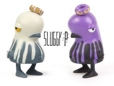 Toy008 Sluggy P by Nevercrew / 4 inches resin art-toy, self produced, hand colored, 2011-2012 / #Toy