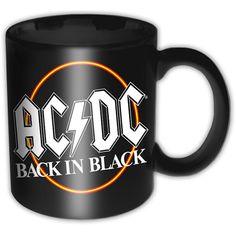 AC/DC - Back In Black Circle (Black)