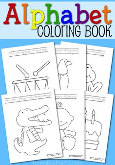 Printable Alphabet Coloring Book - for kids to practice writing letters!