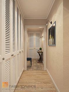 Фото: Дизайн коридора - Интерьер квартиры в стиле легкой классики, ЖК «Академ-Парк», 68 кв.м.