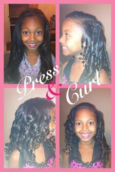 Natural hair...Kids press & curl