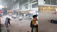 Scenes of carnage inside Brussels Airport following double bomb blasts.