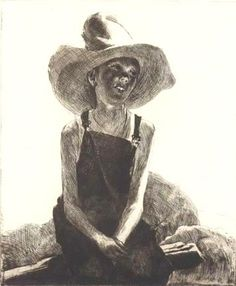 """John Edward Costigan (1888-1972) """"Jackie"""" 1939, Etching and Drypoint. Jackie is a portrait of the artists son."""