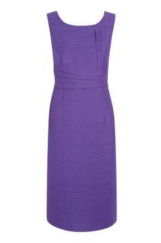 Royal Purple Pleated Shift Dress