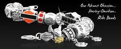 Harley Davidson sterling silver beads and bracelet =D
