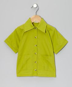 This Dill Pocket Organic Button-Up - Infant, Toddler & Boys by kate quinn organics is perfect! #zulilyfinds