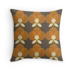 MCM Trois en Orange #retro #vintage #orlakiely #marimekko #scandinavian #homedecor #midcentury #fashion