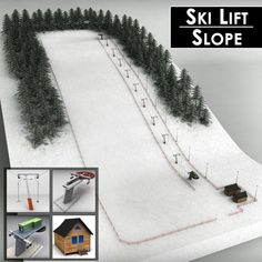 Buy Ski slope lift mountain pack by on Medium detailed model of ski lift station pack. Model is fully textured with all applied materials: - textures for. Christmas Tree Village Display, Lemax Village, Christmas Village Display, Christmas Town, Christmas Villages, Christmas Crafts, Christmas Decorations, Halloween Christmas, Model Village