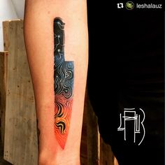 Lightning and lava damascus chef's knife by Alexey from MAD FISH TATTOO - Moscow. Thanks for visiting Hong Kong!