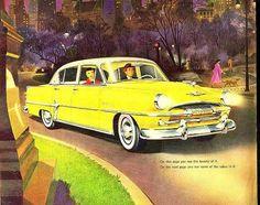 1954 Plymouth Ad (via Very Sherri Vintage on Facebook)