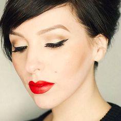 A Roundup of Urban Decay x Gwen Stefani Palette Looks  #redlips #beauty #makeup #blogpost