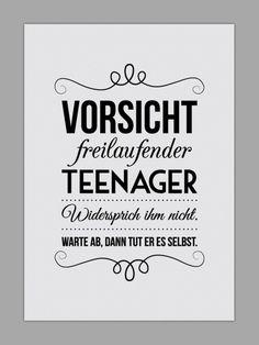 """Originaldruck - """"FREILAUFENDER TEENAGER"""" Kunstdruck - ein Designerstück von Smart-Art-Kunstdrucke bei DaWanda"""