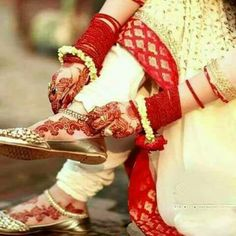 Bridal Flats, Wedding Shoes Heels, Colorful Wedding Shoes, Dps For Girls, Profile Picture For Girls, Girls Heels, Girls Dpz, Indian Bridal, Anklets