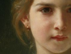 Bouguereau 'Mimosa' Detail (the Mimosa flower) 1899