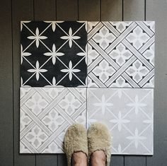 Monochrome and geometric tiles are just what you need for your home.