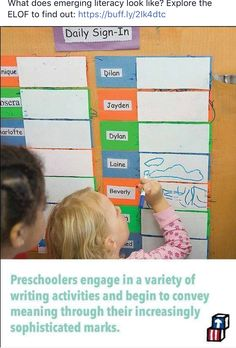 preschool sign in