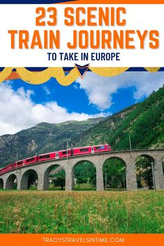 Find lots of practical information and tips in this guide to 23 of the most beautiful rail trips you can take in Europe including the Bernina Express, Jacobite and the Flamsbana #trains #europe Travel Around The World, Around The Worlds, Bernina Express, Europe Train Travel, Train Journey, Travel Essentials, Travel With Kids, Vacation Destinations, Travel Quotes
