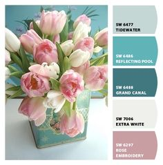 Tulip tones - these would be great for the bedroom!
