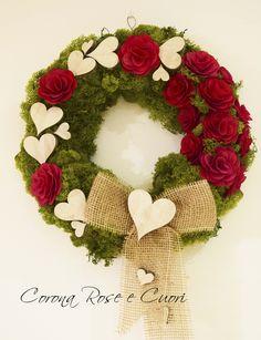 DIY - St Valentine's Wreath  http://madewithlovefor.blogspot.it/2016/02/una-ghirlanda-per-san-valentino.html https://www.etsy.com/it/listing/267424129/corona-di-san-valentino?ref=shop_home_active_7