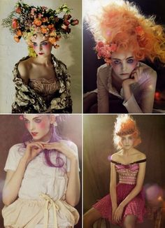 Fantasy hair. Beauitful, whimsical, pretty. wild. I like this style with maybe apples and leaves like Eve