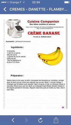 Crème de bananes