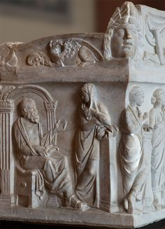 Socrates (sarcophagus of the Muses, left side). Marble. Rome, 1st half of 2nd cent. C.E. Inv. Ma 475. Paris, Louvre Museum.