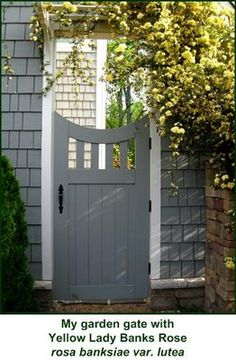 Defining Your Home, Garden and Travel: One of my garden gates - leads from cottage garden to waterfall patio garden.