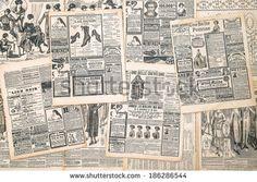 France, Paris - Circa 1919: Newspaper Pages With Antique Advertisement. Woman'S Fashion Magazine Le Petit Echo De La Mode Imagen de archivo (stock) 186286544 : Shutterstock