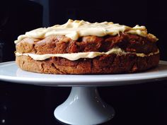Ottolenghi's Apple and Olive Oil Cake with Maple Icing