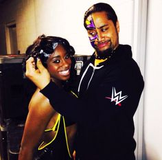 Jimmy Uso and Naomi before hitting the ring on #Raw.