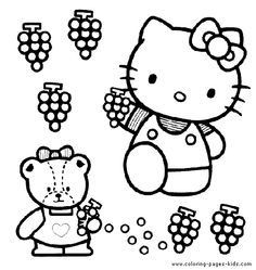 Hello Kitty color page cartoon characters coloring pages, color plate, coloring sheet,printable coloring picture