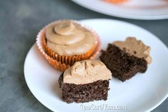 Low carb chocolate cupcakes with nutella frosting