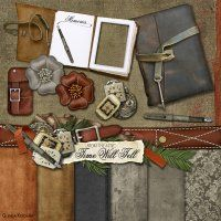 From the Attic: Time Will Tell - Kit by @Glenda Ketcham Designs @Digitals Looks like a great kit for heritage pages