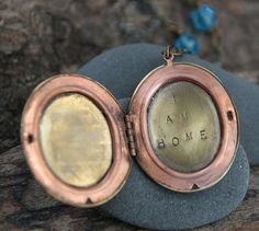 Yes. :: i am home . a hand stamped soul mantra locket
