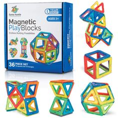 Magnetic Building Blocks Magnetic Tiles Set Toy for 3 4 5 6 7 8 Year Old Boys and Girls - Kids and Toddlers STEM Educational Toy Preschool Creative building Toy Gift for 3-8 Year Old, 36 pcs Set Gift Box *** See this great product. (This is an affiliate link)