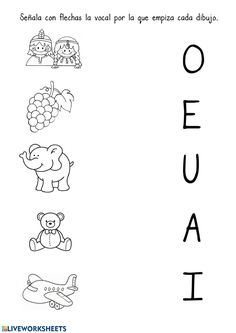 Preschool Education, Preschool Learning, Fun Learning, Alphabet Worksheets, Preschool Worksheets, Printable Christmas Coloring Pages, Teaching Spanish, Home Schooling, Kindergarten