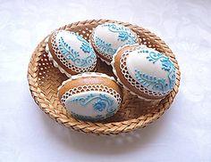 Dekorácie - Medovníková kraslica 3D, modrá - 6436908_