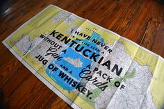 Silkscreened Vintage Kentucky Maps | Kentucky for Kentucky
